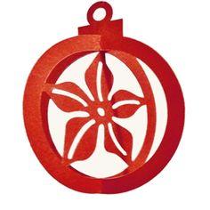Silhouette Design Store - View Design #22372: 3d christmas ornament-poinsettia