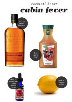 Plate & Paper Cocktail Hour: Cabin Fever - Bulleit bourbon, apple cider, cherry bitters