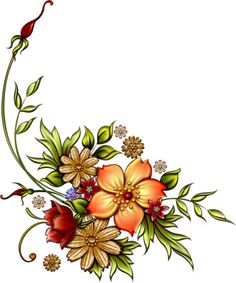 gifs fleurs - Page 2 Art Floral, Floral Artwork, Floral Prints, Flower Art Images, Flower Nail Art, Decoupage Vintage, Decoupage Paper, Bird Houses Painted, Floral Embroidery Patterns