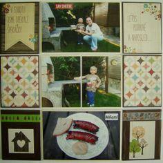 Můj papírový relax: Project life 8 - right page Project Life, Relax, Baseball Cards, Projects, Log Projects, Blue Prints