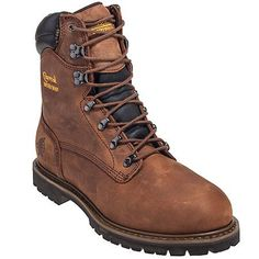Chippewa Boots Men's Brown 55069 Steel Toe Waterproof Insulated EH Wor