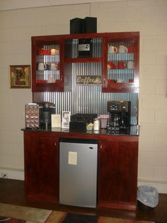 The coffee and tea bar at Salon 222.