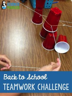 Back to School Teamwork Activity: cup stacking challenge!