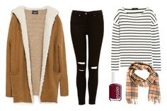 """Picnic in the fall"" by emiliecaroe ❤ liked on Polyvore featuring Zara, J.Crew, Essie and Burberry"