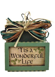 Irish Plaque Quarter Pound -Give your friend an Irish blessing! Assorted Irish sayings are printed on these plaques sitting atop a delightful quarter pound of Assorted Chocolates.
