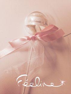 Sucette à dragée Mariage Baptême et jours de fêtes à personnaliser selon votre thème