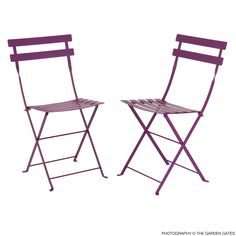 Fermob French Bistro Folding Chair (Set of 2)      Bistro chairs by Fermob are classic French folding chairs originally made popular in Europe in the 19th century. Today, these all metal outdoor chairs have made their way to popular spots in the US, including Times Square, Bryant Park, Hollywood, and public spaces such as parks,   universities and museums. Fermob