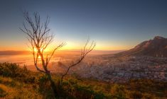 Sonnenaufgang über Kapstadt