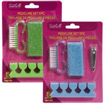 Bulk Donna Michelle Salon Basics Pedicure Tools, 5-pc. Sets at DollarTree.com
