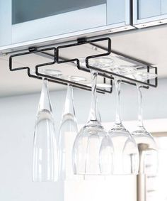 Another great find on #zulily! Black Large Tower Under Cabinet Wineglass Rack #zulilyfinds