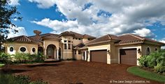 Mediterranean House Plan with 5314 Square Feet and 5 Bedrooms from Dream Home Source | House Plan Code DHSW75052