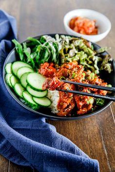 Spicy Pork Bulgogi Rice Bowl | MyKoreanKitchen.com
