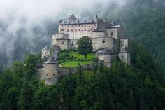 "authorjordanlink: "" Source: We Live In A Beautiful World "" Medieval, Hohenwerfen Castle, Salzburg, Austria Chateau Medieval, Medieval Castle, Beautiful Castles, Beautiful Places, Hohenwerfen Castle, Places To See, Places To Travel, Photo Chateau, Hallstatt"