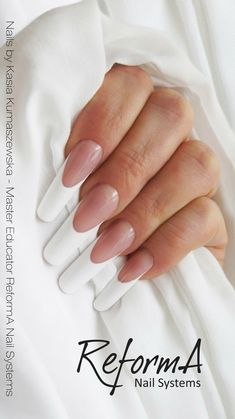 French Gel Sculpting Nails