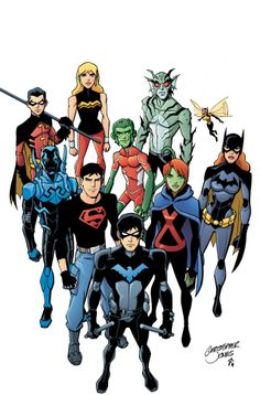 YOUNG JUSTICE is written by Greg Weisman and drawn by Christopher Jones with color by Zac Atkinson. The latest issue of Young Justice jumps five years ahead Young Justice Comic, Young Justice League, Superboy Young Justice, Young Justice Invasion, Young Justice Season 2, Artemis Young Justice, Young Justice Characters, Justice League Superheroes, Justice League Tv Show