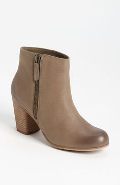 Leather ankle booties starting in sz 4 - comes in black, brown, taupe leather or suede. Comfy with a fitted ankle opening. Go half a size up to fit cotton socks comfortably.