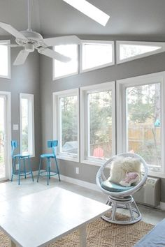 Rockport Grey Paint - Benjamin Moore  I want this for my sunroom with those windows and paint color.       lighting