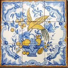 paineis de azulejos portugueses - Pesquisa Google Delft Tiles, Blue Tiles, Tile Murals, Tile Art, Artistic Tile, Spanish Tile, Wall Drawing, Portuguese Tiles, Decorative Tile
