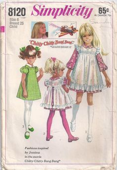 Chitty Chitty Bang Bang Jemima Dress And Pinafore by Rosie247, $4.00