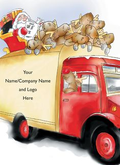 View All Christmas Cards Corporate Christmas Cards, Personalised Christmas Cards, Santa Clause, Red Nose, Cartoon Design, Design Show, Reindeer, Greeting Cards, Van