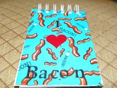 Bacon, Bacon, Bacon, did someone say bacon!   This note book just screams bacon lovers dream!  Fun notebook to jot down any notes.