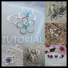 http://www.jewelrylessons.com/tutorial/wire-flowers-4-variations  Tutorial para hacer estas flores