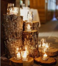 Log Centerpieces!