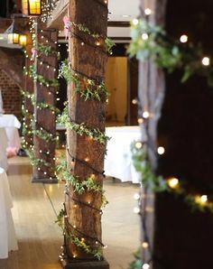 This barn wedding decor is so lovely! - This barn wedding decor is so lovely! – Wedding – – This barn - Wedding Table, Wedding Ceremony, Our Wedding, Dream Wedding, Trendy Wedding, Wedding Hair, Wedding Pillars, Rustic Wedding Reception, Gatsby Wedding