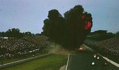 """May 30, 1964, Indianapolis Motor Speedway, Indianapolis, Indiana. Eddie Sachs dies in fiery crash at the Indianapolis 500 on lap two. Rookie driver Dave McDonald would also die later that same day.  Johnny Rutherford, Chuck Stevenson, Ronnie Duman, and Bobby Unser were also knocked out of the race during the crash!  After this incident, gasoline was no longer allowed to be used in Indy race cars.  In 1965, methanol became the prime fuel and the Firestone """"RaceSafe"""" fuel cell was introduced."""