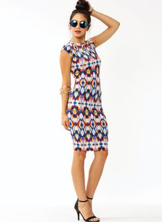 Psychedelic Midi Dress