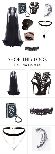 """""""magic assassin. nanda parbat outfit."""" by ellie-molyneux ❤ liked on Polyvore featuring Naeem Khan, Giuseppe Zanotti, Valentino, New Look and BlackMoon"""