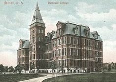 Dalhousie College as Redmond College in a 1907 postcard. It's now called the Forrest Building. Redmond College was the college in Nova Scotia, Canada, that Anne Shirley and Gilbert Blythe, among others attended. Anne Of The Island, Gilbert Blythe, Anne Shirley, Kindred Spirits, Anne Of Green Gables, Nova Scotia, New York Skyline, University, Street View