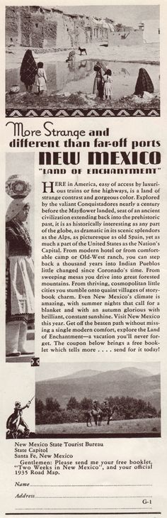 1935 New Mexico Newspaper. New Mexico has such a rich history!