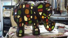 Glass Mosaic elephant.