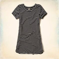 Striped T-Shirt Dress: Lightweight and supersoft with a relaxed neckline and striped pattern.