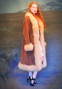 Gorgeous Vtg RUSSIAN PRINCESS Oversize large lamb coat Tibetan taupe natural Afghan fur Hippie penny lane almost famous jacket Stevie Nicks