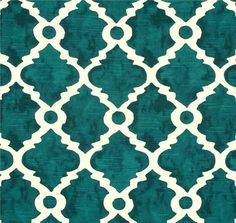 Fabric Teal Blue Green Geometric Home Decor Fabric by CottonCircle