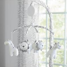 pink and grey baby mobile - Google Search