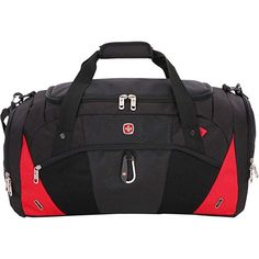 c8af757afb2 SwissGear Travel Gear 1900 Duffel - (Black Red) Review Duffel Bag, Ebay