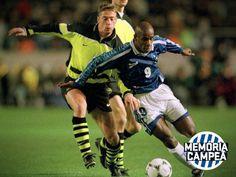 Cruzeiro x Borussia Dortmund, em 1997. Cruzeiro vice-campeão do mundo.