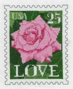 LOVE postage stamp a .  Gallery.ru / Фото #1 - Розочка - DELERJE