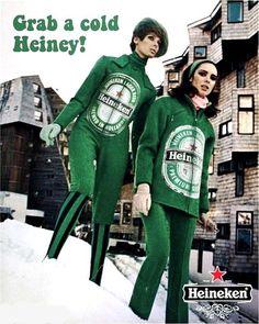 """Heineken, """"Grab a cold Heiney!"""", c1960s"""