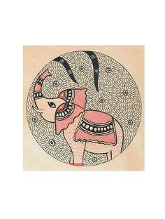 Elephant Madhubani Painting x Madhubani Art, Madhubani Painting, Doodle Art Drawing, Art Drawings Sketches, Drawing Ideas, Sketch Painting, Painting Art, Phad Painting, Peacock Painting