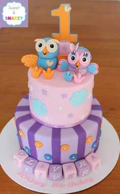 Hoot & Hootabelle Cake - by Sweet & Snazzy https://www.facebook.com/sweetandsnazzy