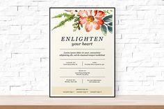 Floral Event Flyer Template PSD by aleenahkhan on @creativemarket