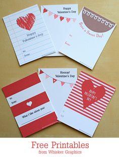 6 Free Valentine Printables - Whisker Graphics
