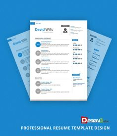 Professional Resume Template Design Can Be Used For Personal, Professional,  Corporate And Many More.