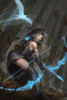 league-of-legends-sexy-girls: Ashe Hawkshot by Fesbraa