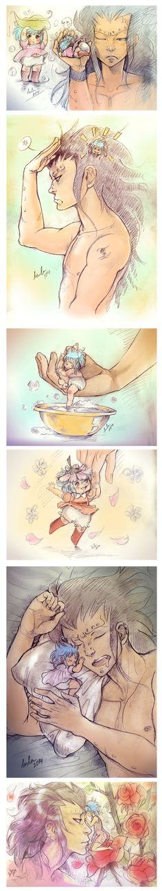 """I have this little Gajevy AU! Where Levy is """"Thumbelina"""" a thumb-size being and Gajeel taking care of this little creature. Gajeel being ove. Gale Fairy Tail, Fairy Tail Guild, Fairy Tail Ships, Fairy Tail Anime, Fairy Tales, Gajevy, Gruvia, Gajeel Et Levy, Fariy Tail"""
