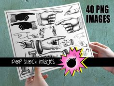 $3.95 Immediate Download!    Busy hands that are writing, pointing and gesturing to direct your attention -- use this collection of (40) images of hands to show us what is important!